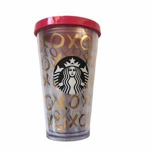 Starbucks 2014 XO Tumbler pink/gold